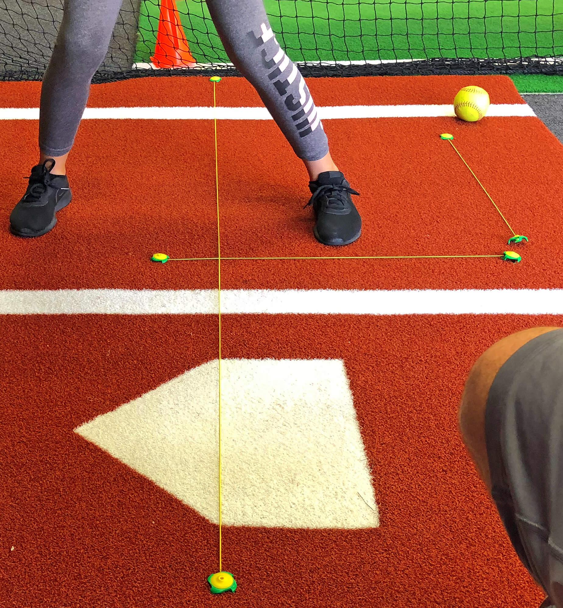 softball with tee claw